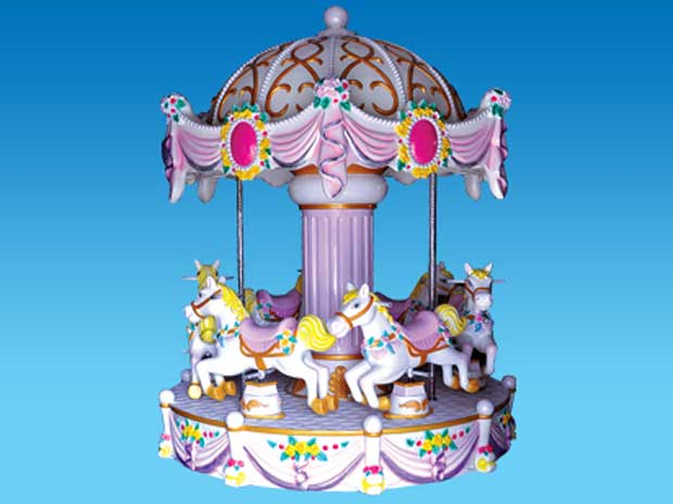 Kiddie carousel ride with 6-horse