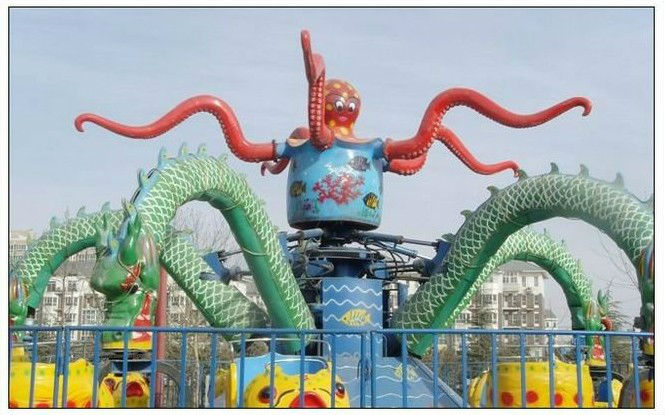 Theme Park Game Big Octopus Ride