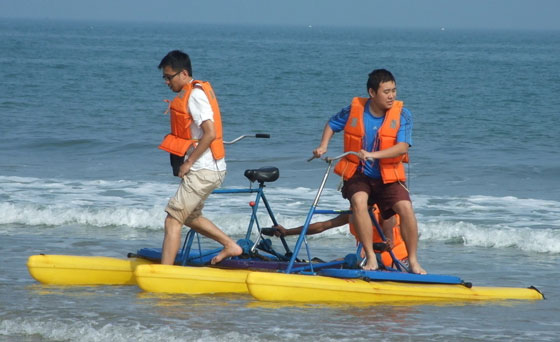 pedal bike for water parks