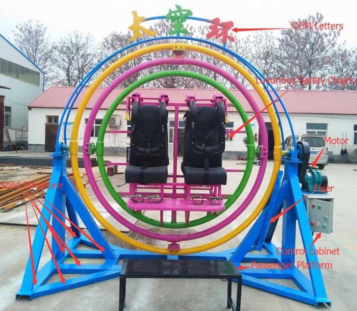spaceball ride for funfair